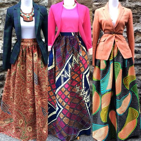 african attire skirt i could wear my navy blazer with a pretty skirt