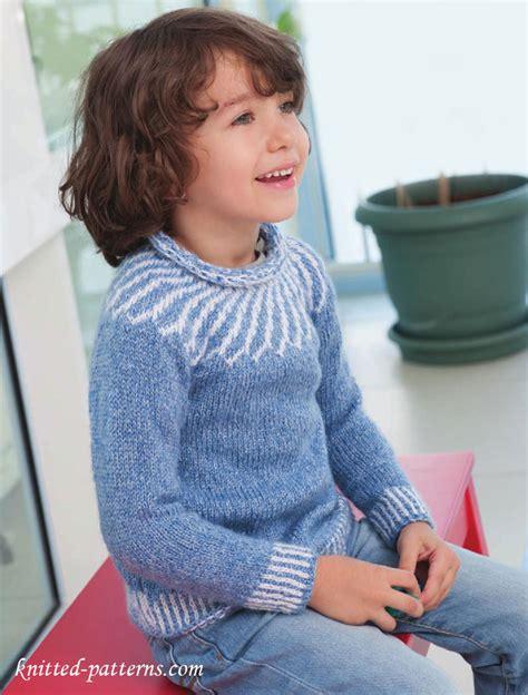childs jumper knitting pattern child s yoke sweater knitting pattern free