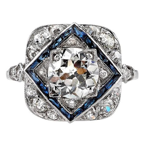 deco and sapphire ring at 1stdibs