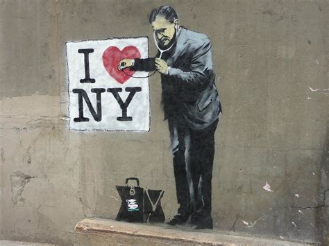 men heart doctors  york city usa banksy graffiti