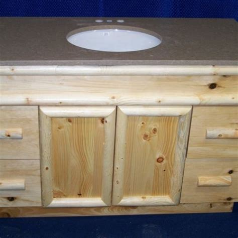 knotty pine bathroom vanity handmade knotty pine rustic bathroom vanity by fbt sawmill custom wood furniture