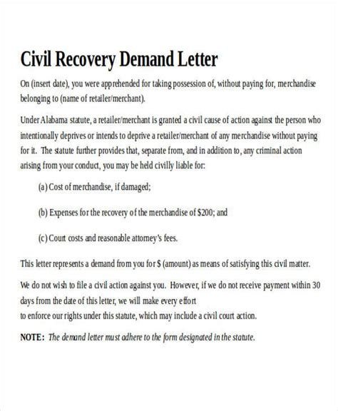 Demand Letter Writing Service sle master demand letter our free free demand letters