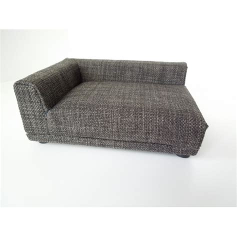 gray tweed sofa modern dollhouse furniture m112 pods uno sofa in grey