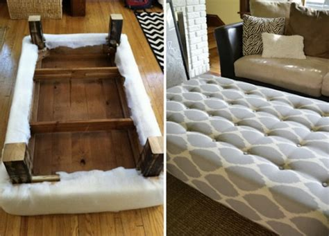 turn ottoman into coffee table how to turn a coffee table into an ottoman homestead