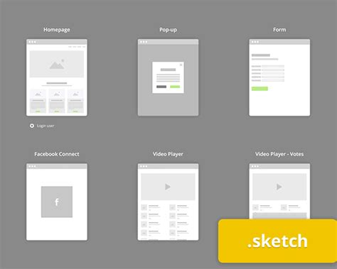sketch flowchart flowchart kit for sketch visual hierarchy