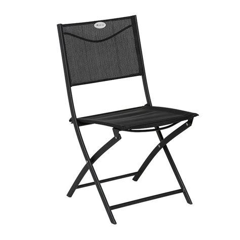 chaises salon de jardin chaise de jardin pliante modula noir chaise et