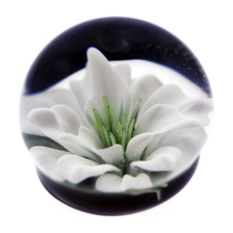 forever in glass paperweights white flower cremation keepsakes