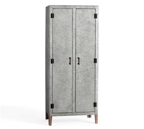 galvanized metal locker dresser quinton galvanized cabinet pottery barn