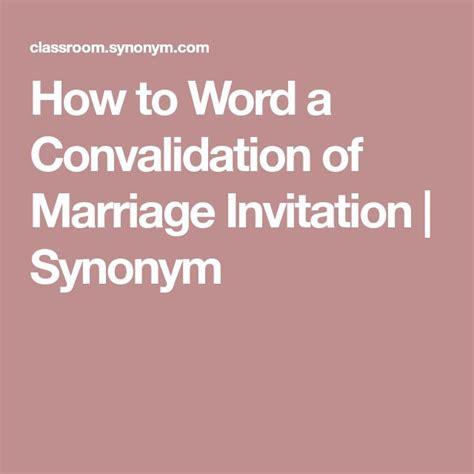 Wedding Invitation Synonyms