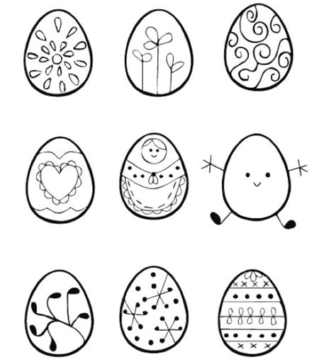 egg pattern drawing easter egg embroidery sler make
