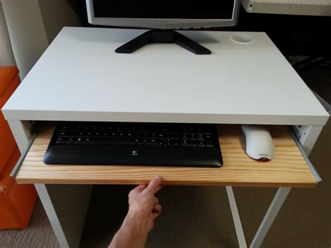 computer desk with keyboard tray and storage ikea micke desk with keyboard tray ikea hackers