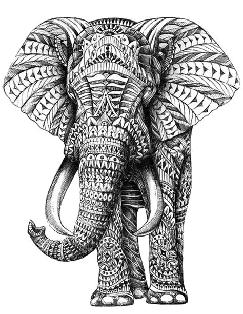 elephant coloring pages aztec designs aztec elephant tumblr