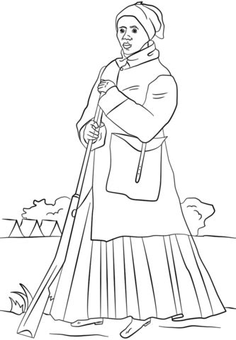 printable harriet tubman coloring pages coloring me