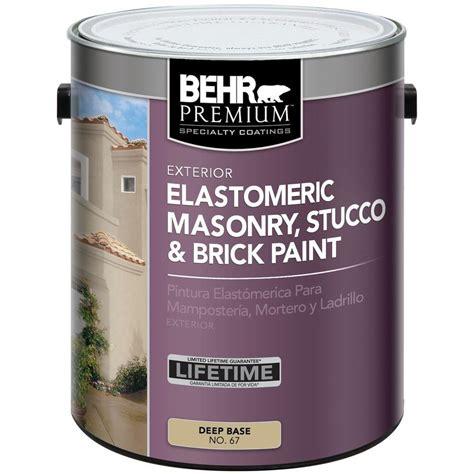 based exterior masonry paint behr 5 gal white flat masonry stucco and brick