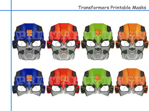 printable robot mask unique transformers printable masks party decoration