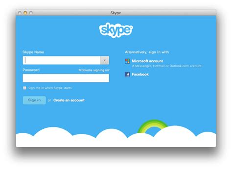 hotmail not mobile version skype for mac
