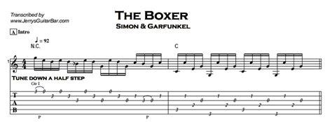 tutorial guitar the boxer simon garfunkel the boxer jerry s guitar bar