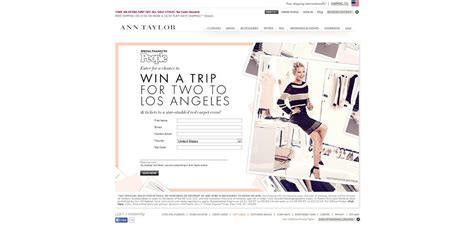 Sweepstakes Open To Legal Residents Of California - ann taylor l a style online sweepstakes