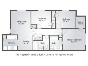 Three Bedroom Apartment Floor Plan 3 bedroom apartment floor plans amp pricing sedona peaks