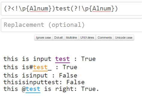 test pattern compile regex to match word surrounded by non alphanumeric