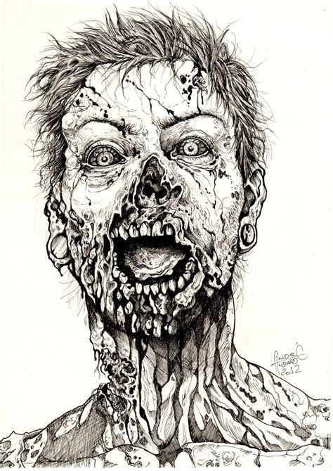 Drawing Zombies by Zombies Drawing 8 How To Draw A