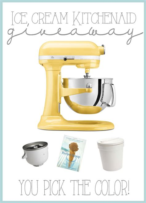 Ice Cream Giveaway - ice cream kitchenaid giveaway over the big moon