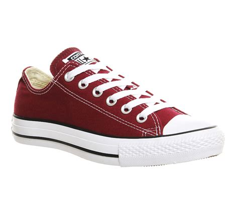 All Converse Low Maroon converse all low maroon canvas unisex sports