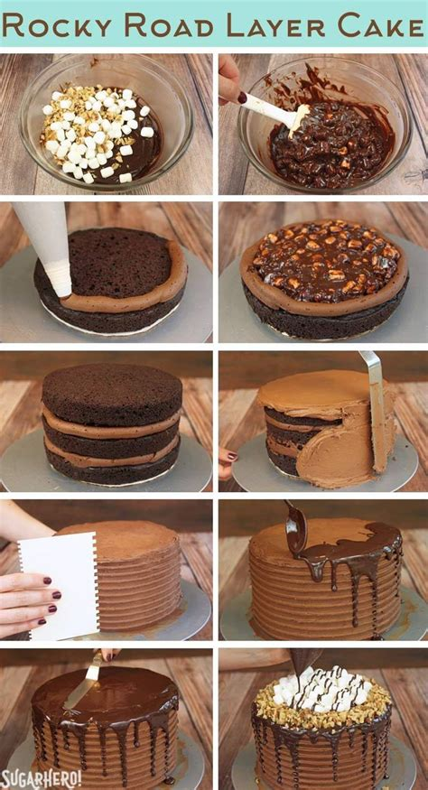 rocky road layer cake recipe   star wars boys birthday  cupcake cakes cake