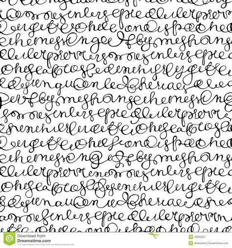 pattern of abstract writing seamless texture stock vector image 43055227