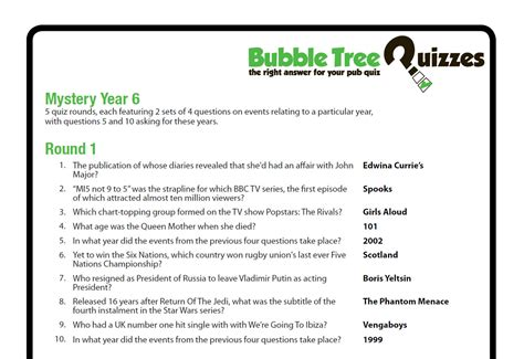 Mystery Year 6 Q Bubble Letter