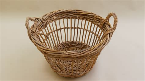 Modern Fruit Mid Century Large French Fruit Picker Basket 2 Available