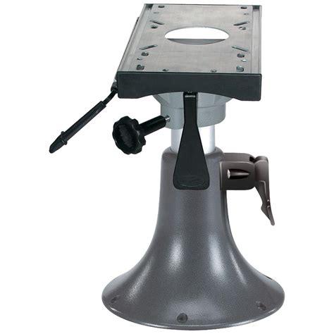 adjustable boat seat wise 174 adjustable aluminum bell pedestal with slider