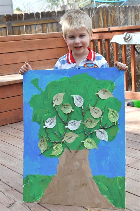 family craft for a family tree craft for the musings from mommyland