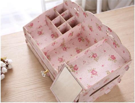 Rak Kosmetik Keropi jual 50 desktop storage rak kosmetik bahan kayu kotak