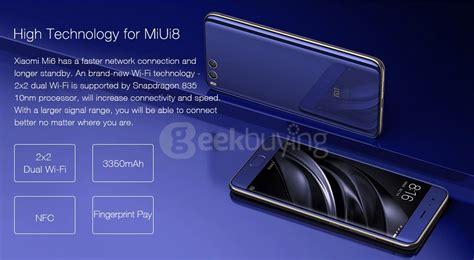 Xiaomi Mi6 6 64 Black xiaomi mi 6 5 15 inch 6gb 64gb smartphone black