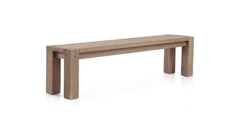 big sur bench big sur smoke 71 5 quot bench crate and barrel