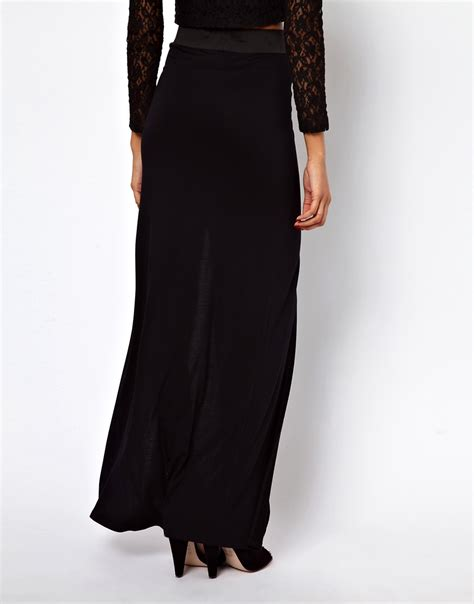 image 2 of maxi skirt with thigh split