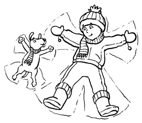christmas snow scene coloring page sketch coloring page