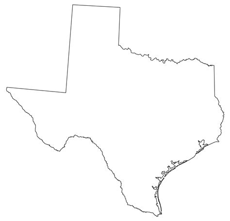 texas map shape free coloring pages of texas map outline