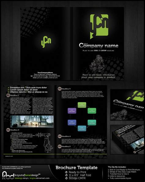 black brochure template 21 free brochure templates psd ai eps