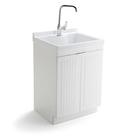 utility sink with storage simpli home murphy 24 in w x 20 5 in d x 34 5 in h abs