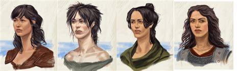 skyrim military hairstyles imperial hair female video games artwork