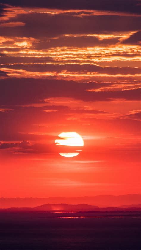 nature sun sunset sky wallpapers hd  background