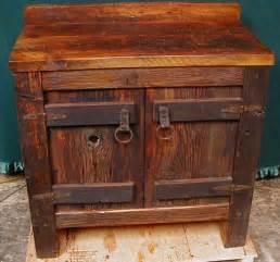 Rustic Bathroom Furniture Custom Made Reclaimed Barnwood Bathroom Vanity