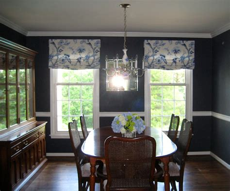 Relaxed Roman Shades   Traditional   Dining Room