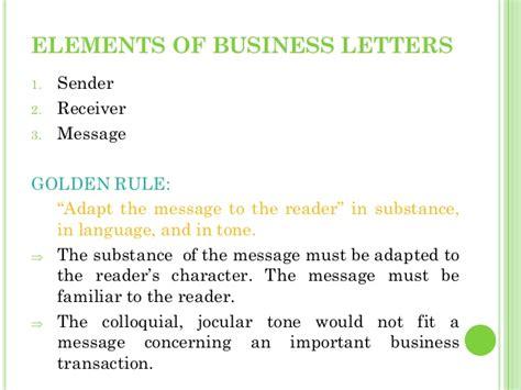 Business Letter Elements Business Letters