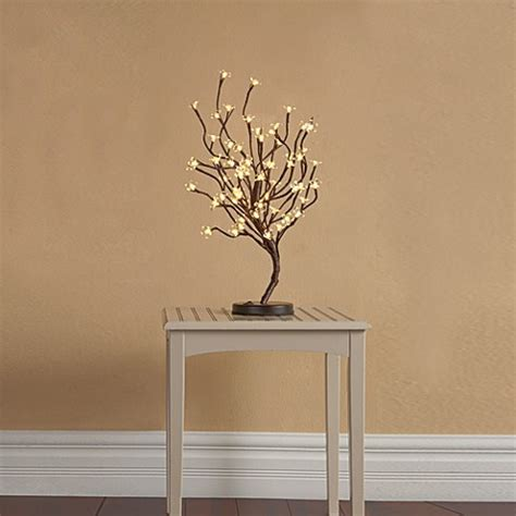 led 39 inch lighted brown branches bed bath beyond plug in led 22 inch lighted blossom tree bed bath beyond