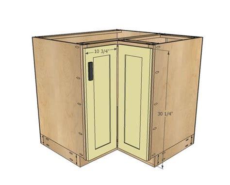 kitchen cabinet basics ana white build a 36 quot corner base easy reach kitchen