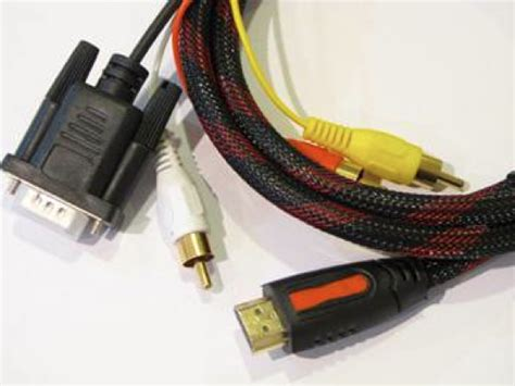 Kabel Speaker Ke Laptop jual kabel hdmi to vga dan audio 2 meter klikglodok