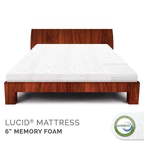lucid bed lucid by linenspa 6 memory foam mattress 100 certipur